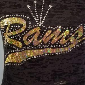 Los Angeles Rams rhinestone shirt bling bling